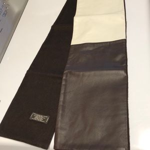 COACH Leather and 100% Cashmere scarf brand new